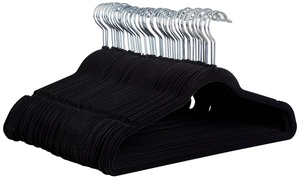 Space-Saving Velvet Hanger (25-, 50-, or 100-Pack)