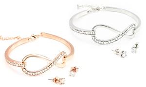 (Exclusive)  Bracelet et boucles d'oreilles  -77% réduction