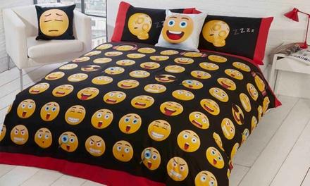 Set housse de couette réversible Emoji