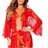 Scallop Lace Robe Women's Lingerie Set