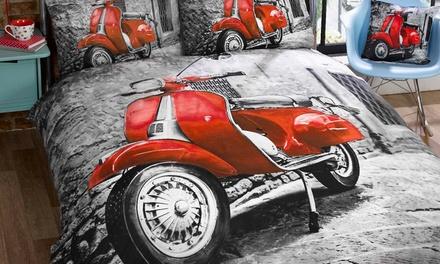 Copripiumino Vespa.Fino A 46 Su Set Copripiumino Rapport Scooter Groupon