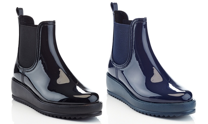 Women's Classic Platform Rain Boots