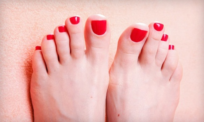 Melissa Woods at Serendipity Spa - Downtown Clovis: Rock Star Toes or Full Acrylic Nail Set from Melissa Woods at Serendipity Spa (51% Off)