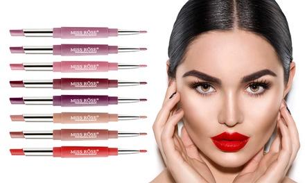 1, 2, 3, 5 ou 7 crayons lèvres double embout : rouge à lèvres mat et crayon contour des lèvres