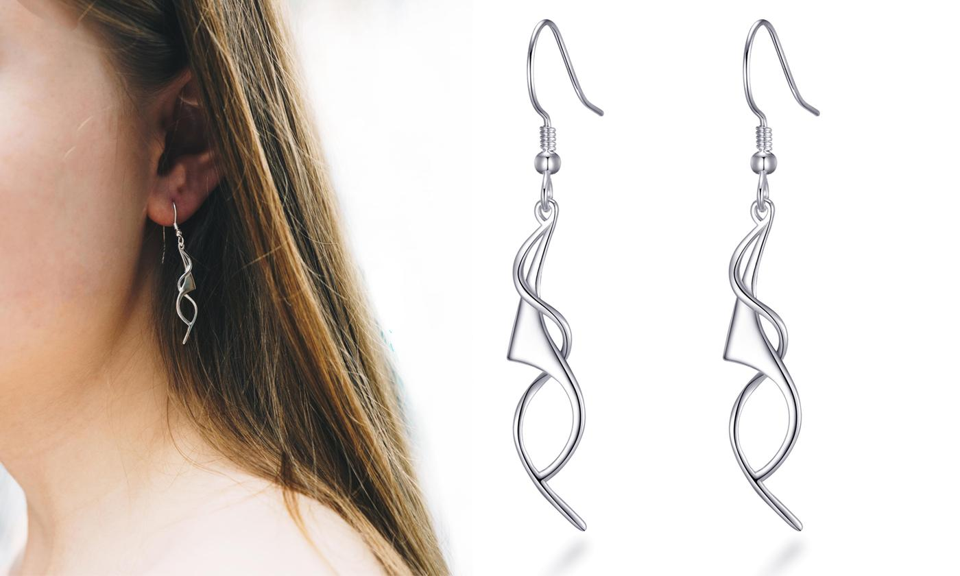 One or Two Pairs of Philip Jones Sterling Silver Spiral Drop Earrings