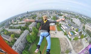 Bungee Jumping Kraków: Bungee: bilet na 1 skok dla 1 os. (129,99 zł) lub w tandemie dla 2 os. (259,99 zł) i więcej w Bungee Jumping Kraków
