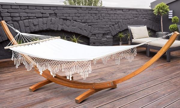 Outdoor Timber Bed Hammock Groupon Goods, Outdoor Bed Hammock