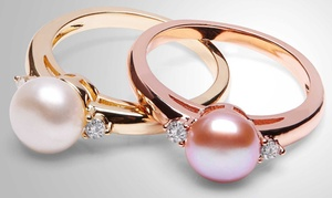 Bague perles et cristaux Swarovski®