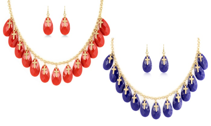 Statement Necklace And Earrings Groupon Goods
