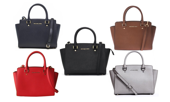 7470e03c66ac Up To 35% Off Michael Kors Selma Satchel | Groupon