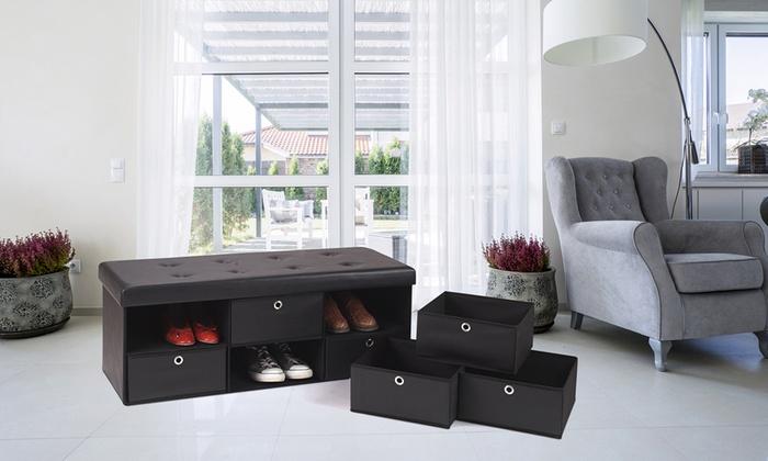 coffre de rangement avec compartiments groupon. Black Bedroom Furniture Sets. Home Design Ideas