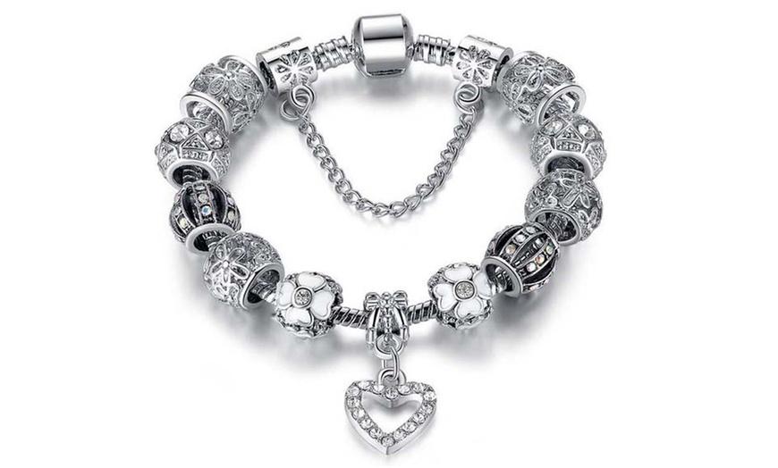 Charm Bracelet Made with Swarovski Elements