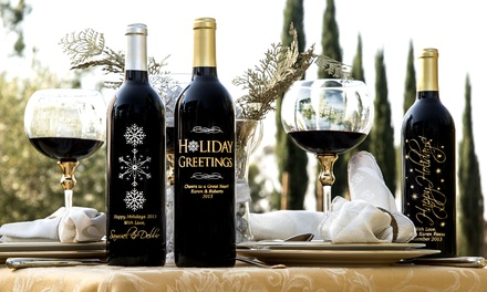 One or Two Custom Hand-Etched Bottles of Wine from Miramonte Winery (Up to 51% Off)