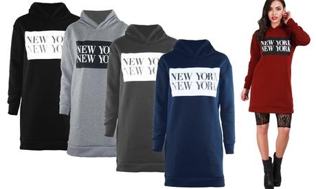 """""""New York New York"""" Sweatshirt mit Kapuze und langen Ärmeln in der Farbe und Größe nach Wahl"""