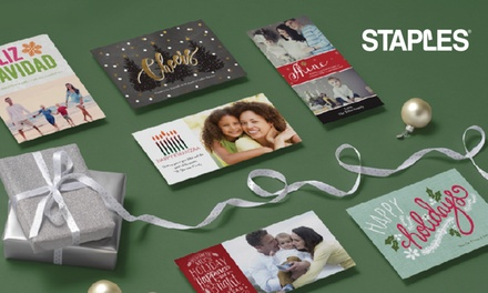 Custom Same-Day and Delivered Holiday Cards and Invitations from Staples (Up to 71% Off)