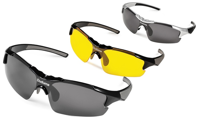 Groupon Goods Global GmbH: Polarisierte Sport-Sonnenbrille für Herren in der Farbe der Wahl