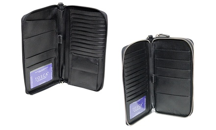 for a Genuine Leather Internal and External Travel Document Holder Don't Pay $99.95