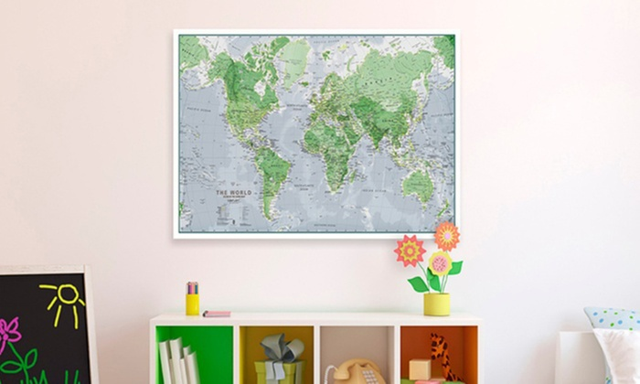 Glow in the dark world map wall poster groupon glow in the dark world map wall poster glow in gumiabroncs Choice Image