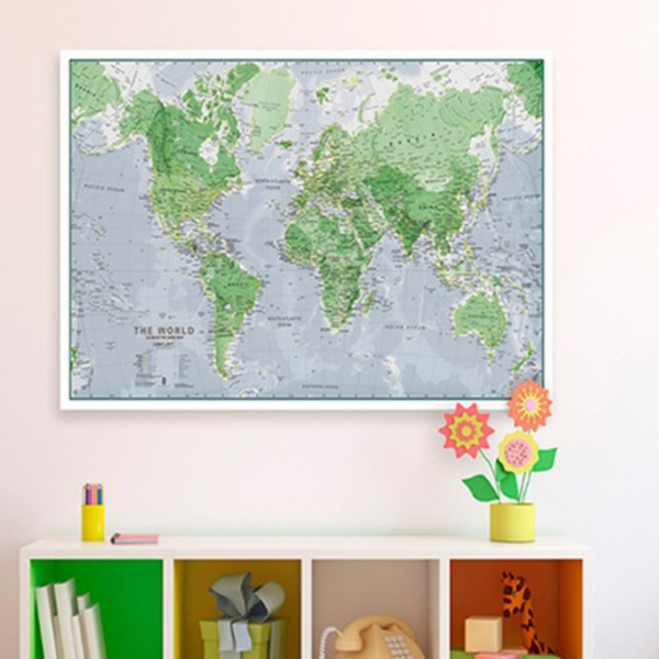 Glow-in-the-Dark World Map Wall Poster   Groupon