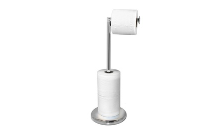 Chrome Toilet Roll Holder with a Rotating Arm