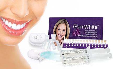 Glam White Elite, 1 ou 2 Kits de blanchiment dentaire LED, seringue de gel de blanchiment dentaire offerte