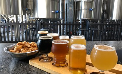 image for Beer Tasting with Pork Crackling for Two ($19.90) or Four People ($39.80) at Sauce Brewing Co (Up to $58 Value)