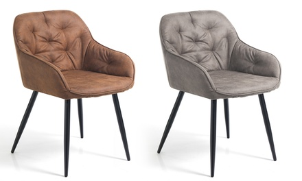 2 sedie imbottite