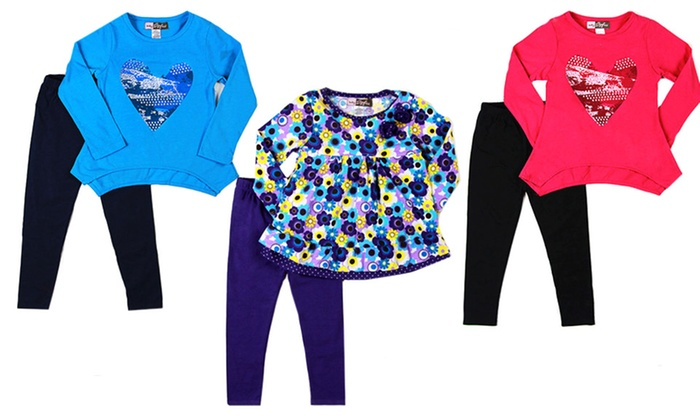 Baby Ziggles Girls Tunic and Leggings Set: Baby Ziggles Girls Tunic and Leggings Set. Multiple Styles Available.