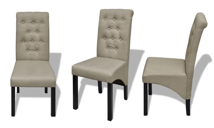 2 4 of 6 klassieke stoelen groupon goods for Klassieke eetkamerstoelen