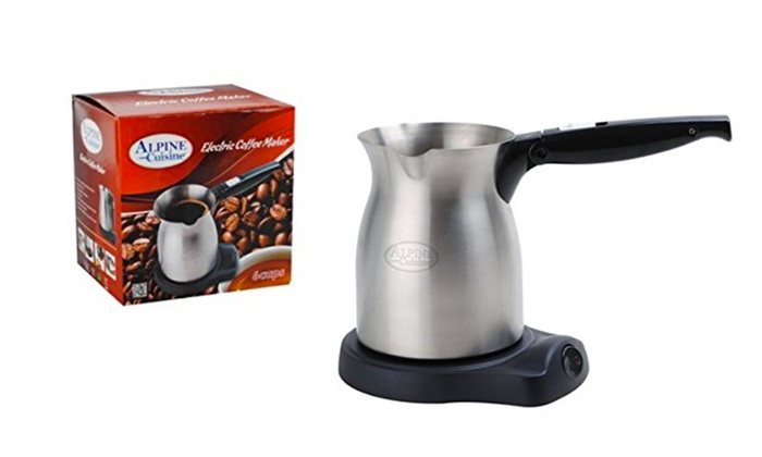 Kitchen Depot  - IN-STORE PICKUP: Alpine Cuisine 6-Cup Electric Turkish Coffeemaker AI14828 at Kitchen Depot