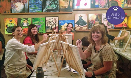 Children's Painting Class or Adult BYOB Painting Class at The Royal Canvas Painting Parlor (Up to 51% Off)