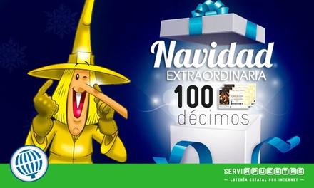 Participación con 10 o 100 décimos con la peña La Bruixa d'Or en el Gordo de Navidad desde 13 € con Serviapuestas