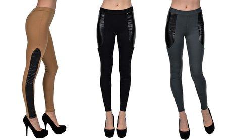 Women's Patchwork-Style Leggings
