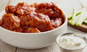 Buffalo Wings and Rings: Wings, Burgers, and Sports Bar Fare at Buffalo Wings and Rings (Up to 40% Off). Two Options Available.