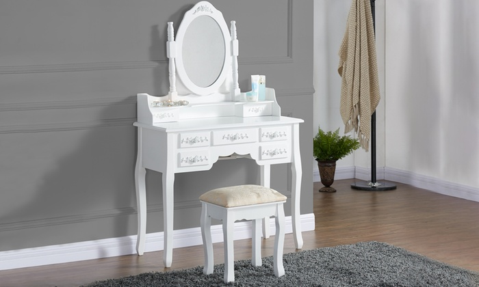 Antique style dressing table set groupon goods