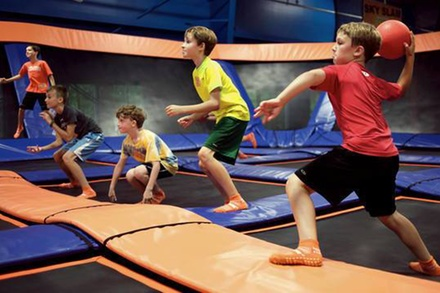 One or Two 90-Min Jump Passes, Platinum Birthday Party, or GLOW Session for Two at Sky Zone (Up to 35% Off)