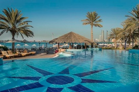 Escape Pool Bar – Hilton Abu Dhabi: Full Day Beach, Pool and Gym Access  with AED75 Food and Drink Credit at Hiltonia Beach Club (up to 62% off)