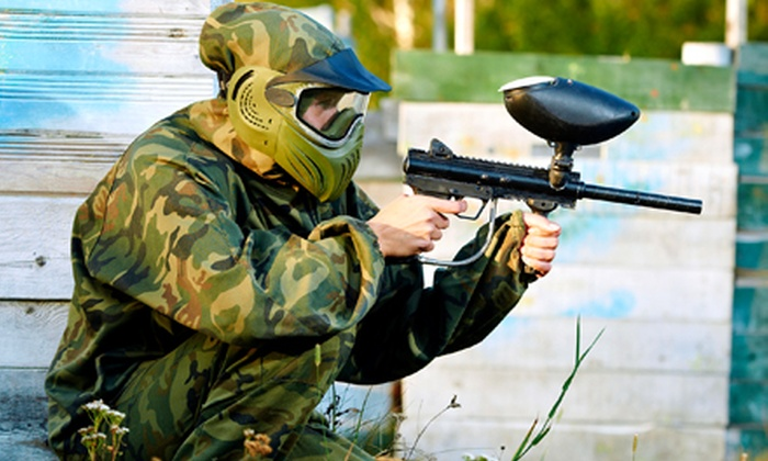 Air Warriors Paintball - Lemoore: Unlimited Air Refills, Marker-Rental Package, and 200 Paintballs for One or Two at Air Warriors Paintball (Half Off)