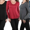 Long Sleeve Trapeze Cut Tee With Sheering Back
