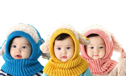 Kids Animal Knitted Hooded Scarf
