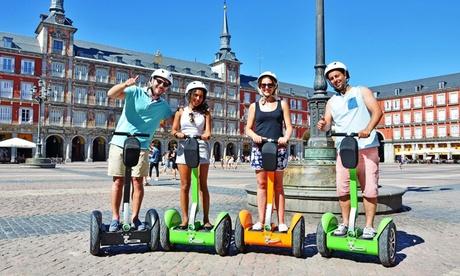 Ruta guiada por Madrid en scooter o bicicleta eléctrica para 2 o 4 personas desde 14,95 € con Ecoplanet Way