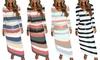Lightweight Striped Maxi Dress
