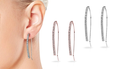 202074c08 One or Two Pairs of Philip Jones Elara Earrings with Crystals from  Swarovski from Groupon UK