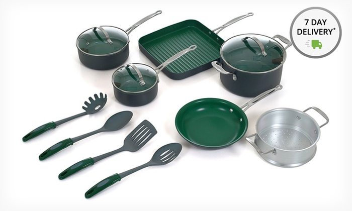 Orgreenic 13-Piece Cookware Set: Orgreenic 13-Piece Nonstick Cookware Set. Free Shipping and Returns.