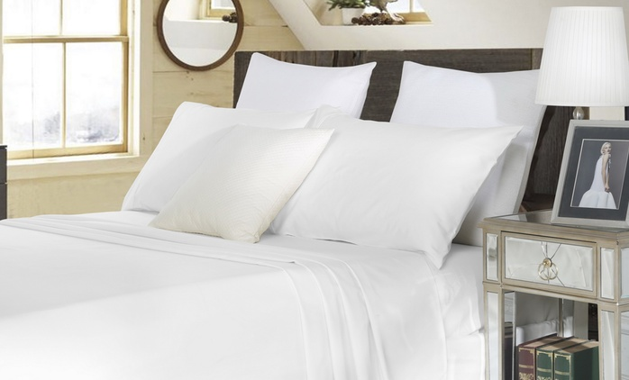 1800TC Cotton Rich Sheet Set - Single ($49), Double ($69), Queen ($79) or King Size ($89) (Don't Pay up to $299)