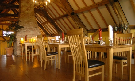 ThreeCourse Sunday Lunch for Two or Four at The Barn Restaurant