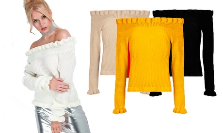Be Jealous Frill Trim Knit Jumper