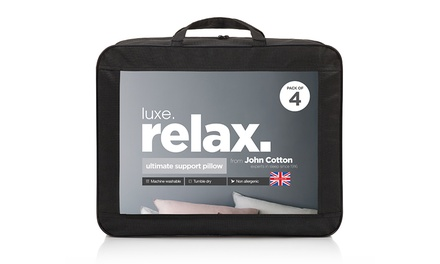 Pack of Four John Cotton Relax Ultimate Support Pillows
