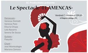 EC PRODUCTIONS: 1 Place pour le Spectacle Flamencas le Vendredi 7 Octobre 2016 à 20h30 à 18 €