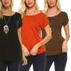 Isaac Liev Women's Triple-Strap Cold-Shoulder Tunic